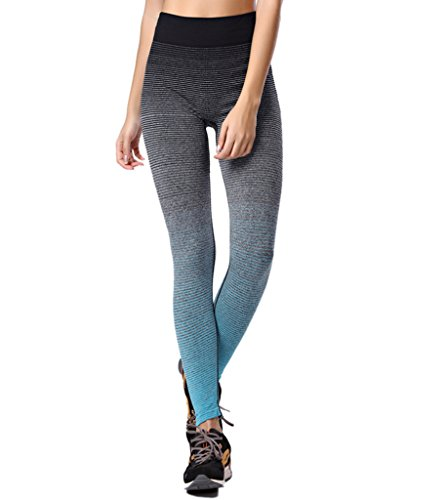 Qutool Damen Sporthose / Leggings für Training/Yoga/Laufen Medium blau