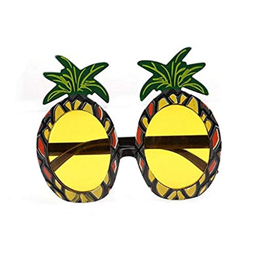 Shatchi PINEAPPLE-GLASSES-11032 Ananas-Sonnenbrille, Sommer, Strand, hawaiianisches Kostüm, Party, Junggesellinnenabschied, Junggesellinnenabschied, lustiger Witz, (Hawaiian Kostüm Lustig)