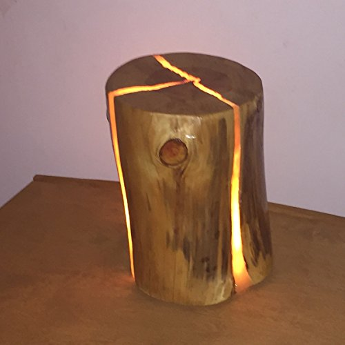 Nouveau design lampe led avec un tronc d'arbre, bois