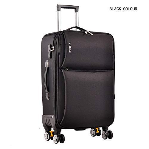 Mishuai valigetta in tessuto oxford bagaglio valigia universale femmina 20 pollici 22 pollici 24 pollici maschio imbarco password scatola di traino morbida (color : nero, size : 20)