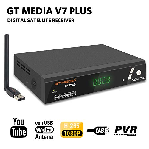 GT Media V7 Plus DVB-S2 DVB-T2 Decodificador Satélite TDT Receptor TV Digital...