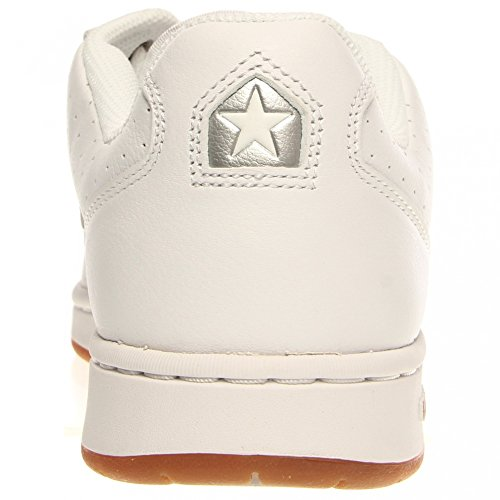 Converse Karve bue bianco / argento Skate Shoes Tg White, Silver