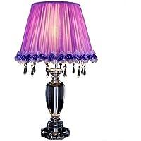 ZYCkeji Zart Einfache romantische purpurrote Kristalltisch-Lampe-Stilvolles Landhaus-Wohnzimmer-Schlafzimmer-Nachttisch-Lampe... preisvergleich bei billige-tabletten.eu