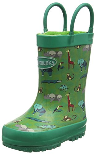 Chipmunks Jungen Safari Gummistiefel Green (Green Multi)