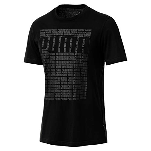 Puma Wording Tee T-Shirt Homme, Cotton Black, FR : S (Taille Fabricant : S)