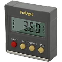FstDgte - Medidor de ángulos digital para sierra, carpintería, industria de reparación, etc, 4*90°, Magnetic Base,Data Hold,Absolute/Relative Measurements,Degree/Slope% Conversion, 1