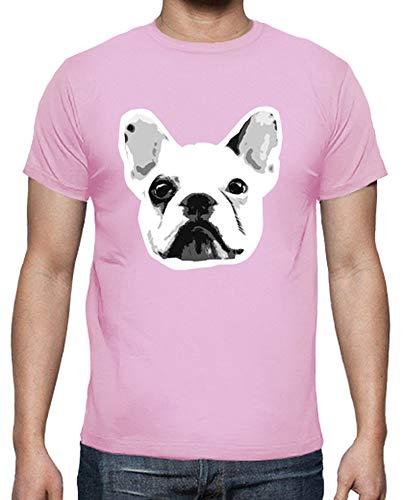 latostadora - Camiseta Bulldog Frances para Hombre Rosa XL