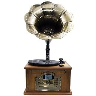 Nostalgie Retro Plattenspieler | Stereoanlage | Kompaktanlage | Musikanlage | Grammophon | Retroanalage | Bluetooth | Radio | CD-Player | USB | Fernbedienung | Aux | ...