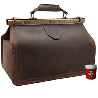 Doctors bag PARACELSUS, brown genuine leather, BARON OF MALTZAHN, Made in Germany