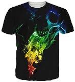 uideazone Männer Coole Totenkopf Crew Neck T-Shirt Neuheit Tee