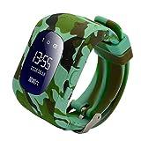 LOVOVR NiñOs Reloj Inteligente Rastreador GPS TeléFono MóVil para NiñOs Adecuado Los NiñOs Usan PrevencióN De PéRdidas Ranura para Tarjeta SIM SOS Pulsera Control Parental Regalo De NiñOs