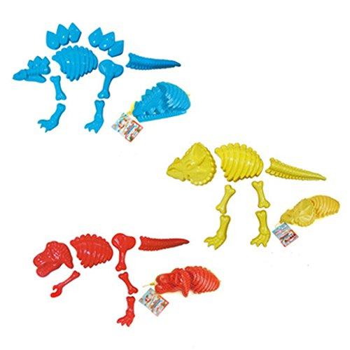 Dabixx Sandspielzeug, Lustige Dinosaurier-Skelett-Knochen-Sand-Form-Strand-Spielwaren für Baby-Kinder scherzt Sommer - Farbe zufällig