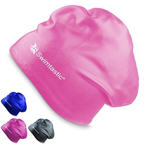 Swimtastic–cuffia per capelli lunghi –appositamente progettata per nuotatori con capelli lunghi, spessi, o ricci