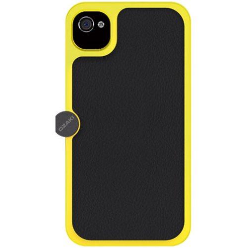 Ozaki OP863 O!Photo Gear Cover für Apple iPhone 4S/4 (mit Stativgewinde) schwarz/silber Jaune