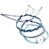 Tobillera, Winkey 3 pulseras de tobillo de plata para mujer, cuerda de playa ,