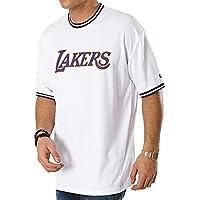 New Era NBA Los Angeles Lakers Tipping Wordmark T-Shirt Uomo Bianco 459e8ed798b9