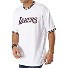 A NEW ERA ERA Era NBA Los Angeles Lakers Tipping Wordmark Camiseta Hombre Blanco