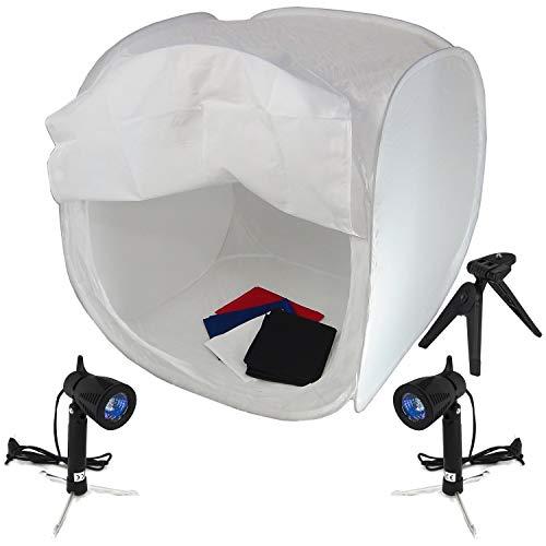 Caja Luz DynaSun PB01 80x80 4 Fondos Pie 2 Foco Luz