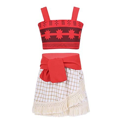 f8796eb91 iiniim Disfraz Infantil para Niña Bebé Vestido Princesa sin Manga Conjunto  Camiseta Tiranes Falda de Brolas
