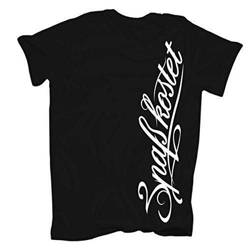 Männer und Herren T-Shirt Spass kostet Könige für einen Tag (mit Rückendruck) Schwarz