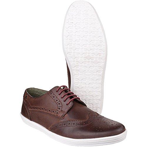 Base Herren Perform perforierte Leder Schuhe mit Schnürung Brown