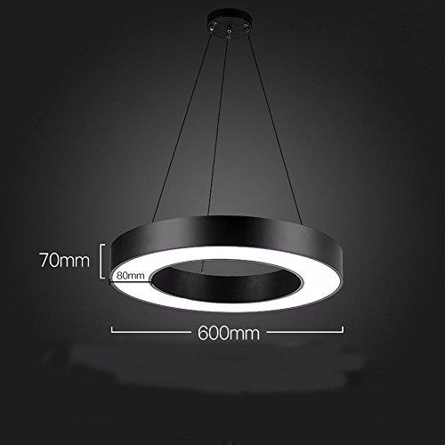 GZLight Decke Anhänger Leuchten in einem modernen, minimalistischen Stil ein leerer Kreis weißes Licht 60 * 7 cm Leerer Kreis-anhänger
