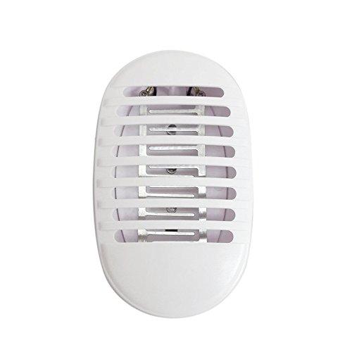 Lilideni AC110-240V 1 Watt 3 LED Moskito-killer Lampe Bug Zapper Insektenschutzmittel Licht Tragbare für Sowohl Innen Außen Schlafzimmer Arbeitszimmer Restaurant Veranda Deck Terrasse Hinterhof Garten - Bug-deck