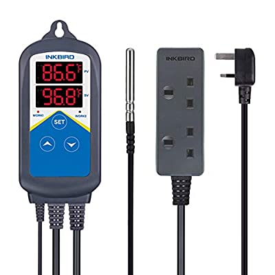 Inkbird ITC-306UK Dual Relays Plug Digital Temperature Controller Heating Thermostat(No Cooling) from Inkbird