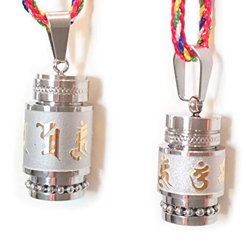 STYLE4-NATURE Tibetische Gebetsmühlen-Halskette. Mantra Glücksbringer und Talisman Kette mit kleinem Wunschfach. (15) - Tibetische Gebetsmühle