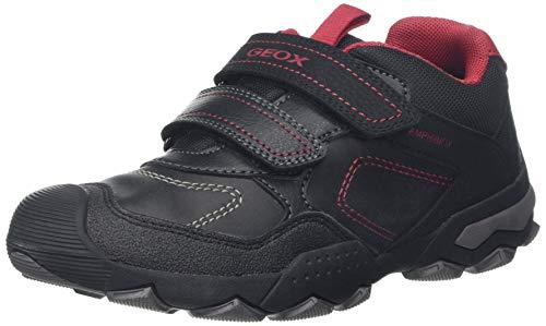 Geox J BULLER Boy B ABX D, Zapatillas para Niños, Negro Black/Dk Red C0260, 30 EU