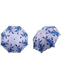 Kentop Paraguas Paraguas Plegable Cortavientos Paraguas Plegable Paraguas Viaje Hombre Mujer Paraguas Estampado Porcelana Azul y