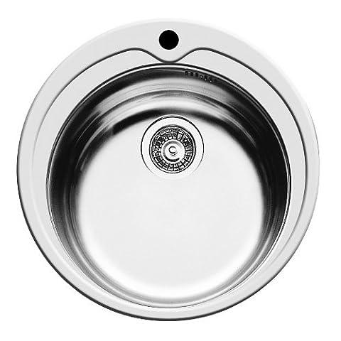 Pyramis Évier de cuisine rond Chromé 48,5 x (Stainless Steel Bar Sink)