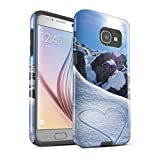 Stuff4 Coque Brillant Robuste Antichoc de Coque Samsung Galaxy A5 (2017) / Aimez Le Montagnes Design/Ski/Planche Neige Collection