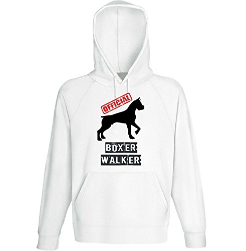 teesquare1st Men's Boxer 2 - Official Walker White Hoodie Size XLarge