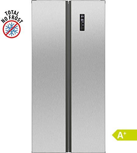Bomann SBS 7310 IX Kühl-Gefrier-Kombination/A+ / 181 cm Höhe / 394 kWH/Jahr / 269 Liter Kühlteil / 186 Liter Gefrierteil/MultiAirflow-System für optimale Luftzirkulation/inox