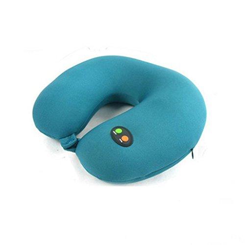 QIHANGCHEPIN U-type Multifunktionale Elektrische Gesundheit Kissen, Tragbare Reisekissen Nano Nackenmassagegerät, Geeignet für Autofahren, Hause Schlaf, Büro Sitzende Druck (rot/Blau)
