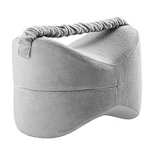 Orthopädisches Kniekissen für Seitenschläfer, Sorgt für Druckentlastung - Hüfte, Bein, Knie, Rücken und Schwangerschaft Elastic Memory Beinruhekissen (Gray) - Colinsa