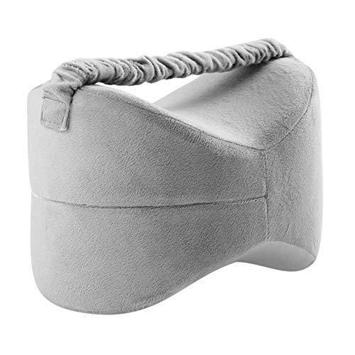 xiangpian183 Kniekissen für Schwangerschaft, Ischias Schmerzlinderung, Rückenschmerzen, Beinschmerzen, Hüft- und Gelenkschmerzen - Memory Foam Kissen mit Gummiband -