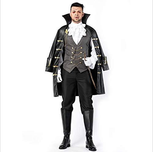 Kostüm Codes Herr - QIAO Halloween Herren Vampir Cosplay Kostüm