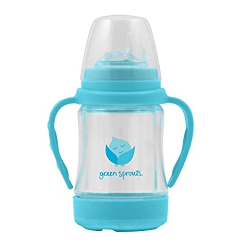 green sprouts Glass Sip'n Straw Cup (Aqua)