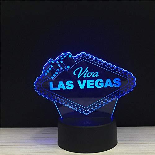 Las Vegas City Brand Sign LED 3D Nachtlicht Acryl Nacht Lampe Licht Leuchte mit TouchLampen Lichter Ort Dekor -