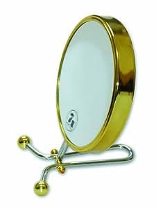 Miroir de Beauté Grossissant 7 fois - Métal argenté et doré
