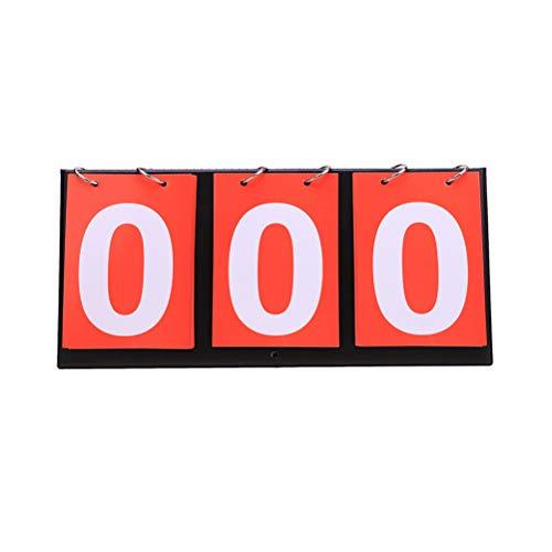 Kampre Sports Scoreboard Tischplatte Flip Scoreboard Countboard für Basketball Volleyball Fußball B
