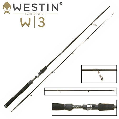 Westin W3 Vertical Jigging M Spinnrute 185cm 14-28g - Vertikalrute zum Gummifischangeln, Spinnrute zum Vertikalangeln, Spinnangel