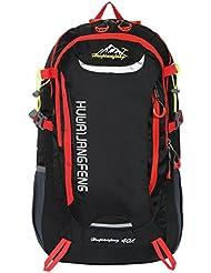 HWJIANFENG 30L Mochilas de Senderismo para Montaña de Acampadas de Ordenador al Aire Libre de Nylon