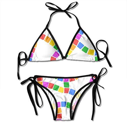 flys Unendliches Spielbrett - Bonbonfarben auf Weiß_618 90% Nylon 10% Spandex mit Brustschale (Spielbrett Leben Größe)
