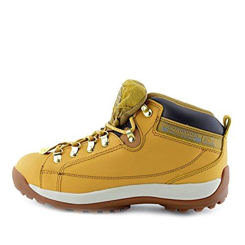 Kick Footwear Herren groundwork Leder Arbeit Steel Toe Leichte Unisex Erwachsene Sicherheitsstiefel - UK 13/EU 47, Honig (Stahl-toe-stiefel-13)