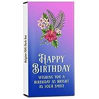 Chocholik Birthday Day Gift – Wishing You a Birthday As Bright As Your Smile 70% Dark Belgium Chocolate Bar - 100gm (3.5Oz)