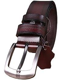 Ceinture pour hommes, boucle à ardillon réglable de haute qualité, élégant travail  active de base en cuir, ceintures… 33914e99086
