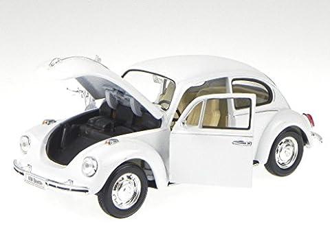 VW Käfer Volkswagen Beetle 1959 weiss Modellauto 22436 Welly 1:24